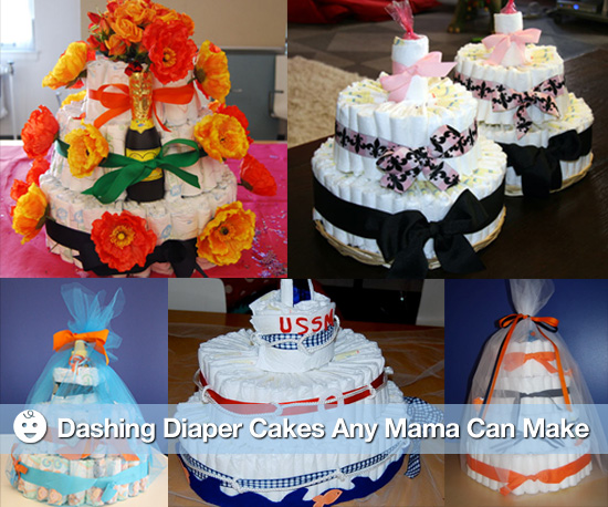 Dashing Diaper Cakes Any Mama Can Make