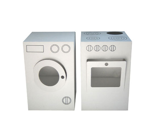 Cardboard Stove and Washer