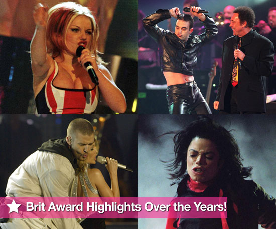 Extensive Photo Gallery of Celebrities at the Brit Awards Over the Years Including Geri Halliwell's Union Jack Dress 2010-02-16 08:00:00