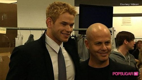 Kellan Lutz at Fashion Week For Calvin Klein