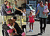 Photos of Jennifer Garner with Violet and Seraphina and Ben Affleck in LA