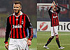 Photos of David Beckham's Team AC Milan Playing Manchester United in Milan