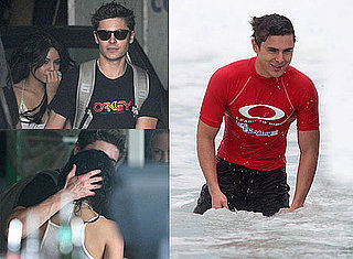 Photos of Zac Efron at Sydney's Bondi Beach For a Surfing Promotion With Oakley