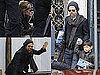 Photos of Brad Pitt and Angelina Jolie Leaving Their Venice Apartment Without Twins Knox and Vivienne