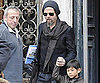 Slide Photo of Brad Pitt with Pax in Venice