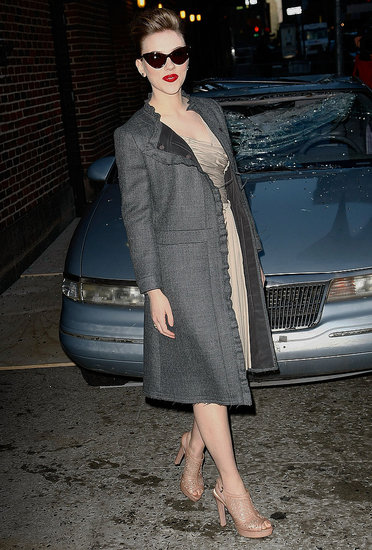 Photos of Scarlett Johansson at Letterman