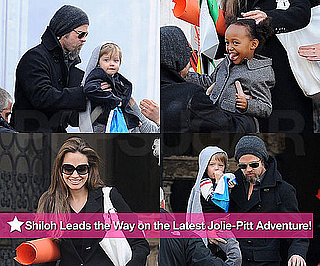 Photos of Brad Pitt With Angelina Jolie, Knox, and Zahara in Venice, Italy