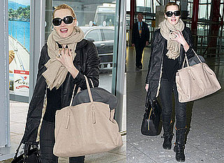 Photos of Kate Winslet Leaving Heathrow After Attending BAFTA Awards in London