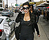 Slide Photo of Kim Kardashian Shopping in Leggings