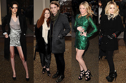 Photos of Kristen Stewart And Mary-Kate Olsen at the Burberry Show During 2010 Fall London Fashion Week 2010-02-23 16:30:52