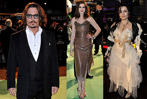 Johnny Depp, Anne Hathaway, and Helena Bonham Carter Arrive For Alice in Wonderland Royal Premiere!
