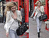 Photos of Kate Moss Leaving a London Restaurant After Lunch And London Fashion Week Ended With Her Self-Designed Longchamp Bag