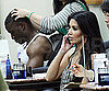 Slide Photo of Kim Kardashian and Reggie Bush at Salon in LA