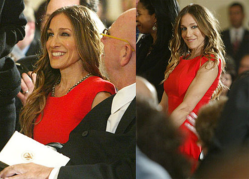 Photos of Sarah Jessica Parker Wearing Victoria Beckham at The White House