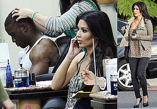 Photos of Kim Kardashian and Reggie Bush at the Nail Salon Together in LA