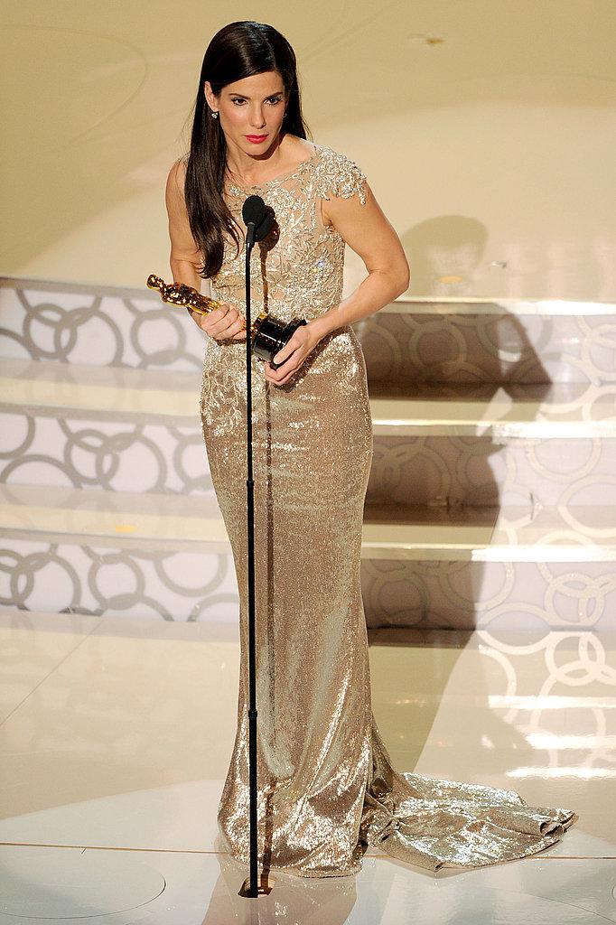 Photos of Sandra Bullock and her Oscar