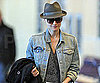 Slide Photo of Diane Kruger Departing Vancouver in a Fedora on Her Way to the Oscars in Los Angeles