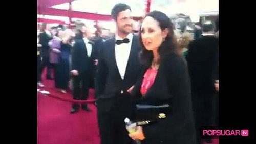 Gerard Butler on the Oscar Red Carpet
