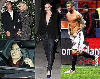Photos of Victoria Beckham at a Party in LA With Gwen Stefani And Leonardo DiCaprio; David Beckham Playing With AC Milan