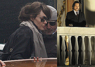 First Photos of Angelina Jolie and Johnny Depp Together on Set of The Tourist!