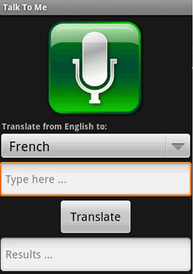 An Android Application For Voice Translation
