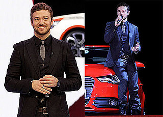 Photos of Justin Timberlake Introducing the New Audi A1 in Switzerland at the Geneva International Motor Show 2010-03-02 13:30:00