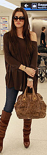 Khloe Kardashian Carries Givenchy at Miami Airport