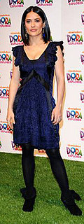 Salma Hayek Wears Blue Balenciaga to Dora the Explorer Celebration
