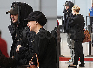 Photos of Carey Mulligan and Shia LaBeouf At JFK Flying to LA for Oscars