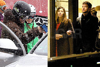 Photos of Justin Timberlake and Jessica Biel in Verbier Skiing and Sledding