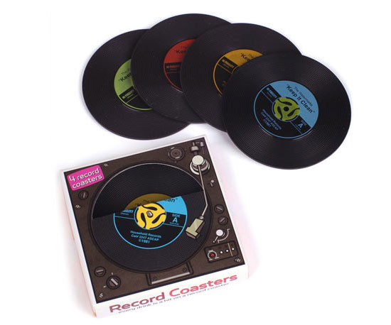 Record Coasters ($10 for four)
