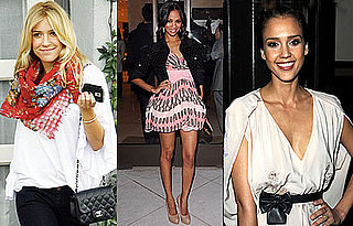 Photos of Kristin Cavallari, Zoe Saldana, and Jessica Alba