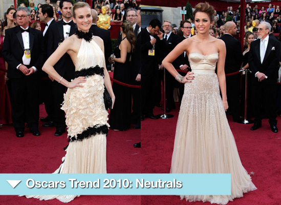 Photos of Nude and Neutral Dresses on Red Carpet at 2010 Oscars