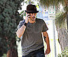 Slide Photo of Colin Farrell Talking on Cell Phone