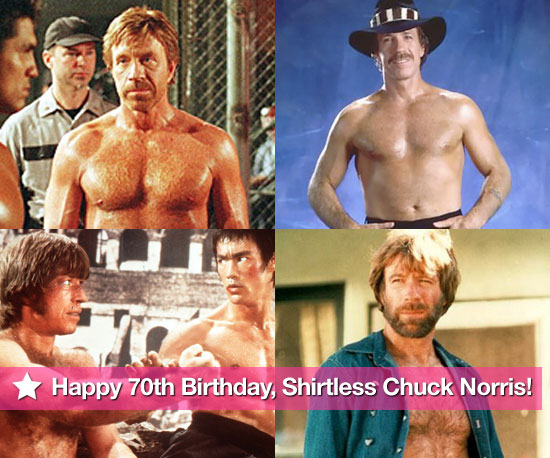 Happy 70th Birthday, Shirtless Chuck Norris!