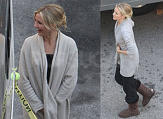 Photos of Cameron Diaz Wearing Uggs on the Set of Bad Teacher in Los Angeles