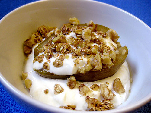 Baked Pears With Yogurt and Granola Recipe