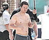 Slide Photo of Mark Wahlberg Shirtless on The Fighter Set
