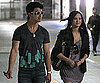 Slide Photo of Demi Lovato and Joe Jonas at Church in LA