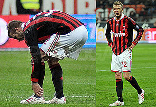 Photos of David Beckham Playing With AC Milan Before Tearing His Achilles Tendon