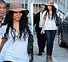 Photos of Vanessa Hudgens Wearing Floppy Hat in Santa Monica