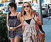 Slide Photo of Jennifer Meyer and Nicole Richie Eating Lunch