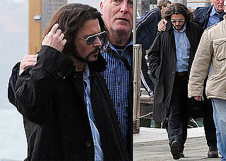 Photos of Johnny Depp Wearing Sunglasses on the Set of The Tourist in Venice 2010-03-19 02:00:00