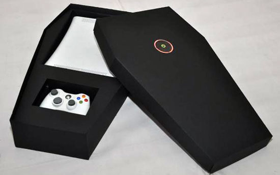 Photos of the Red Ring of Death Xbox 360 Coffin