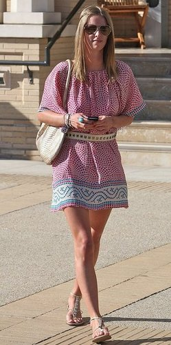 Nicky Hilton in Mosaic Printed Tolani Tunic Shopping in LA
