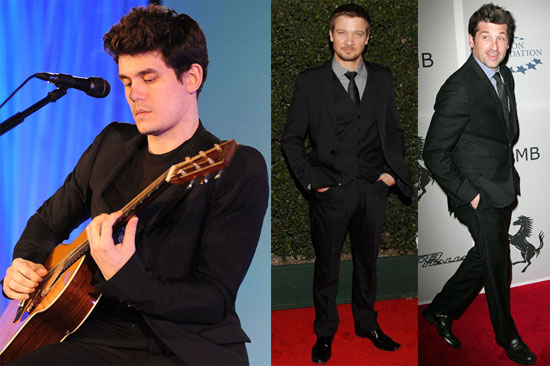 Photos of John Mayer, Patrick Dempsey, and Jeremy Renner at a Haiti Benefit in LA 2010-03-21 18:30:44