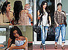 Photos of Kim and Kourtney Kardashian Filming in Miami with Baby Mason Disick