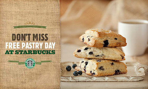 Starbucks Free Pastry Day Is March 23, 2010