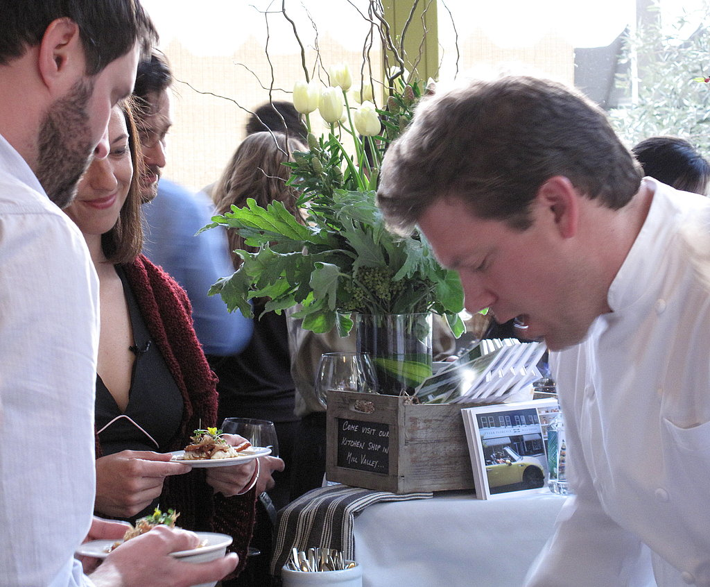 Tyler Florence was in tow, plating up dishes, greeting guests, and pouring bottles of his own TF Pinot '08.