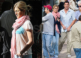 Photos of Jennifer Aniston and Adam Sandler Filming Just Go With It